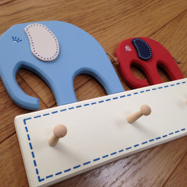 Elephant Coat Pegs or Key Rack