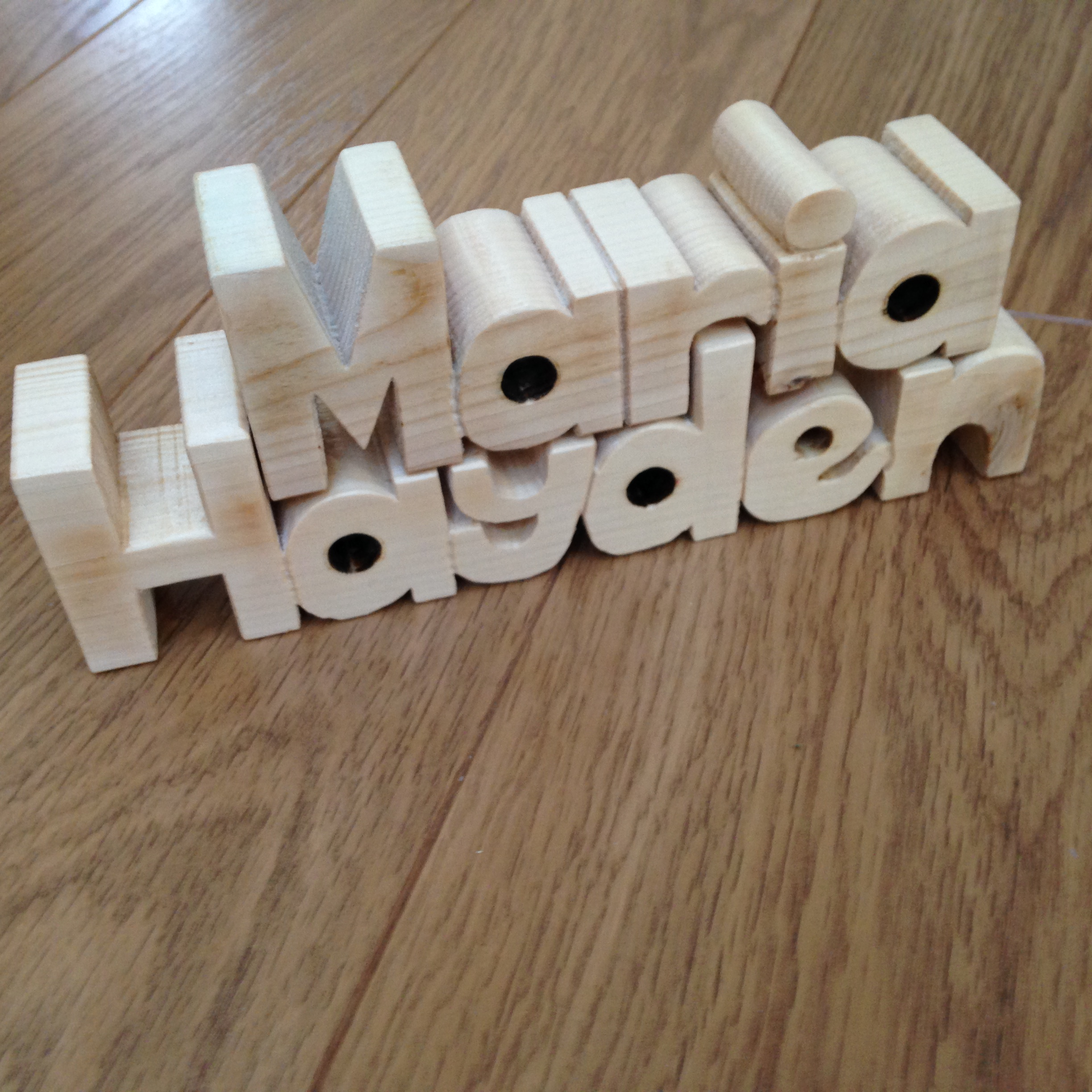 Wood Letters With Names