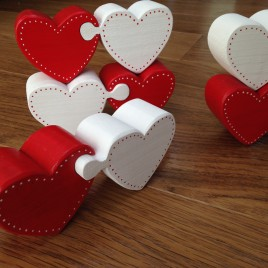 Hearts Jigsaw Pieces