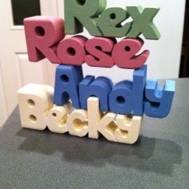 Painted Wooden Block Names