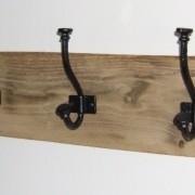 Solid oak coat pegs