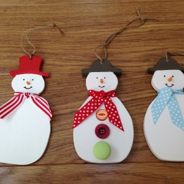 Snowman tree decorations/hangers
