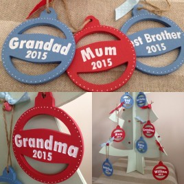Christmas Tree Bauble – Engraved with personalisation