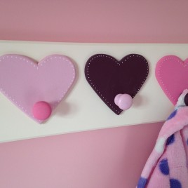 Heart Coat Pegs (2, 3 or more on a backplate)